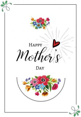 Gift Certificate Mother's Day - Colourful Flowers