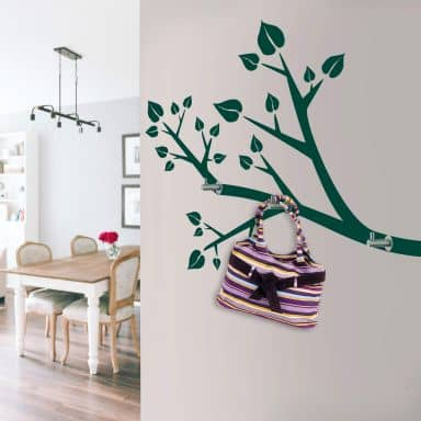 Sticker mural - Branche + 3 crochets