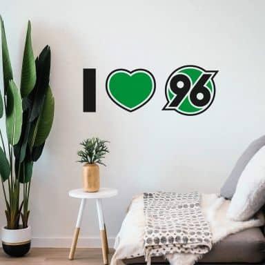 Wandtattoo I love 96