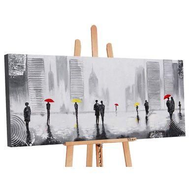 Acryl Gemälde handgemalt Angenehmes Treffen 140x70 cm