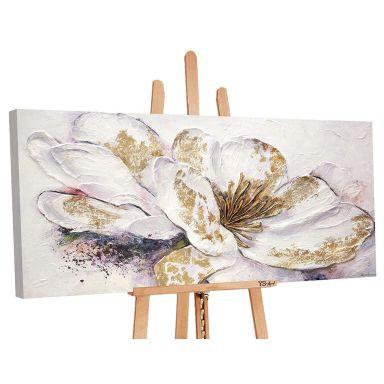 Dipinto acrilico - Peonia oro 120x60 cm