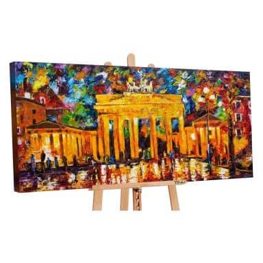 Dipinto acrilico - Porta di Brandeburgo 140x70 cm