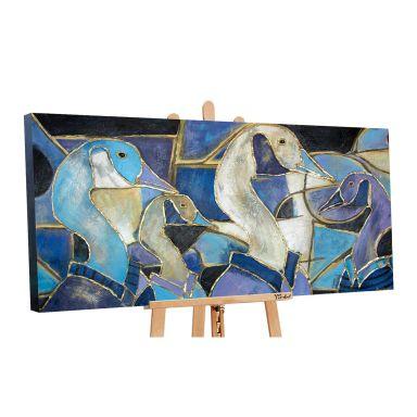 Dipinto acrilico - Vetrata 140x70 cm