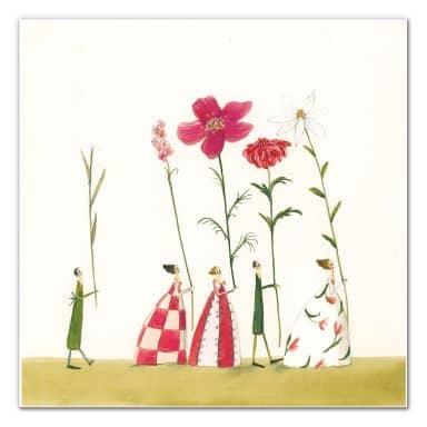 Wandbild Leffler - Blumenträger