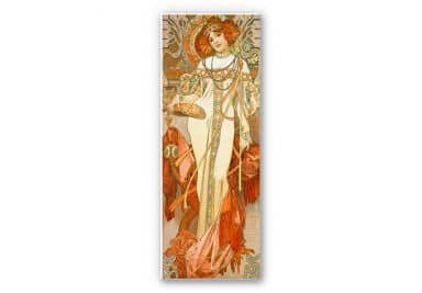 Wandbild Mucha - Jahreszeiten: Der Herbst 1900