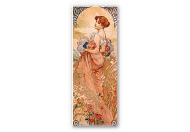 Wandbild Mucha - Jahreszeiten: Der Sommer 1900