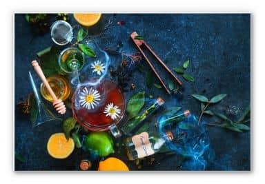 Wandbild Belenko - Chamomile and Tea
