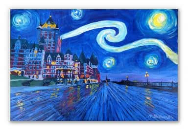 Wandbild Bleichner - Starry Night in Quebec