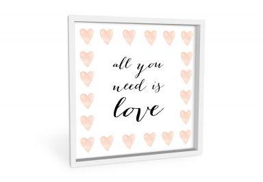 Wandbild Confetti & Cream - All you need is love
