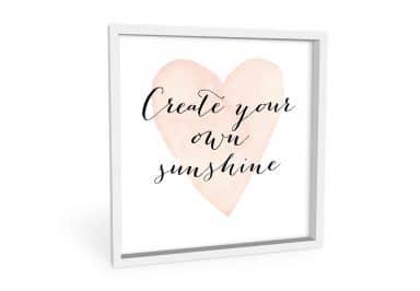 Wandbild Confetti & Cream - Create your own sunshine