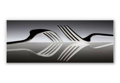 Wallprint De Kogel - Silverware Reflection - Panor