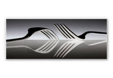 Wandbild De Kogel - Silverware Reflection - Panorama