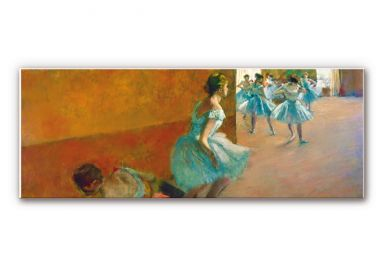 Wandbild Degas - Tänzerinnen auf einer Treppe - Panorama