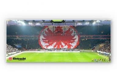 Wandbild Eintracht Frankfurt Arena Fanlogo - Panorama