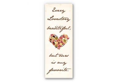 Wandbild Every Lovestory is beautiful - Panorama