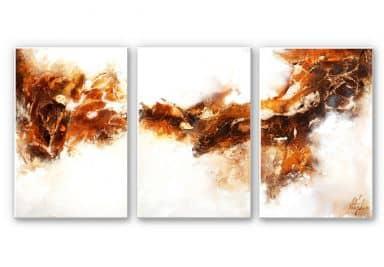 Wandbild Fedrau - Flüssiges Gold 02 (3-teilig)