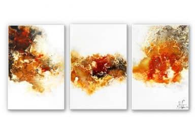 Wandbild Fedrau - Flüssiges Gold 04 (3-teilig)