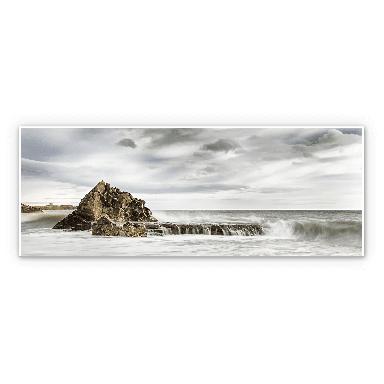 Wandbild Fels in der Brandung - Panorama