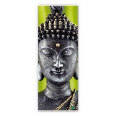 Wandbild Green Buddha - Panorama
