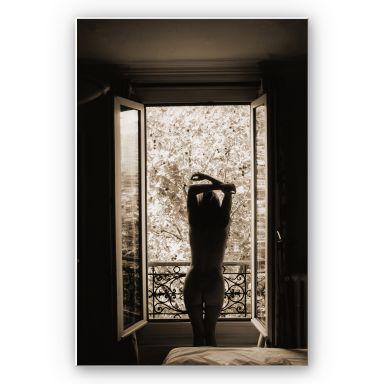 Wandbild Der Blick aus dem Fenster!