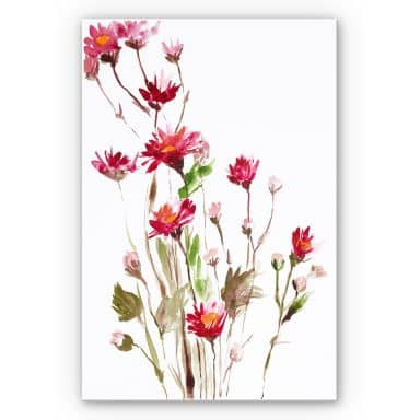 Wandbild Illustrierte Wildblume