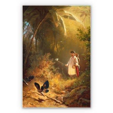Tableau Forex - Spitzweg - Le chasseur de papillons