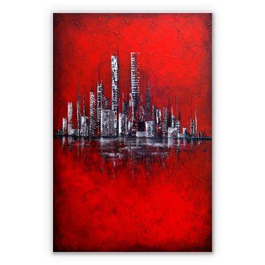Wandbild Fedrau - Rot