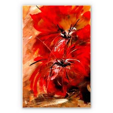 Wandbild Niksic - Feuerblumen