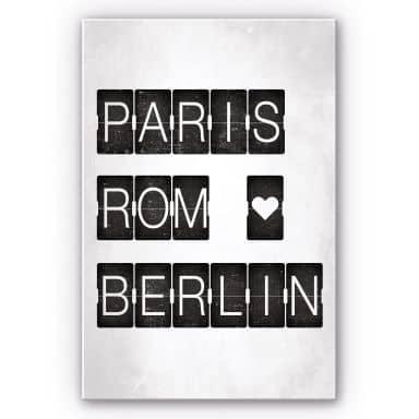 Wandbild Paris-Rom-Berlin