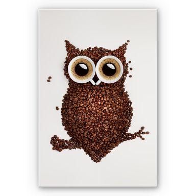 Wandbild Kaffeeeule