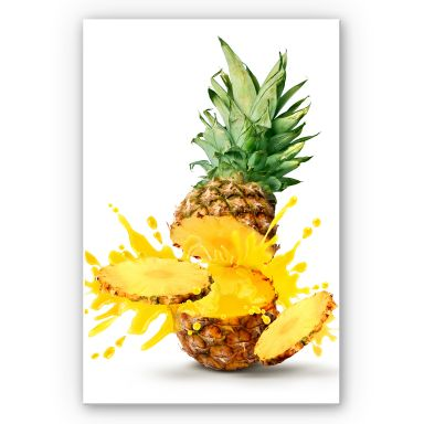 Wandbild Splashing Pineapple