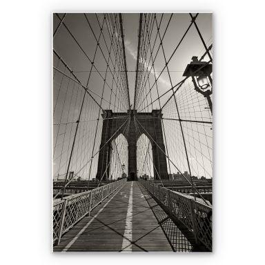 Wandbild Brooklyn Bridge Perspektive
