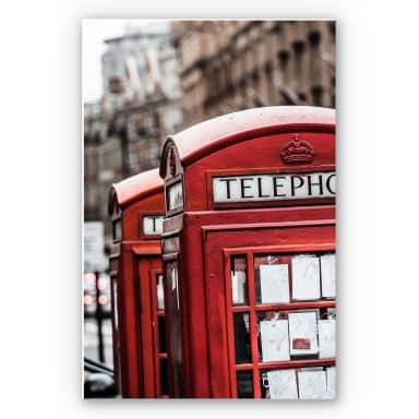 Wandbild Britische Telefonzelle