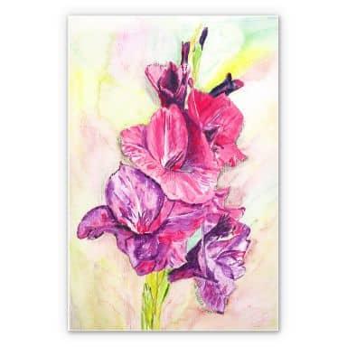 Wandbild Toetzke - Gladiolen Bouquet in Violett