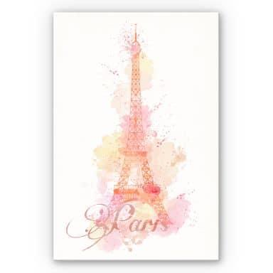 Wandbild La Tour Eiffel Aquarell