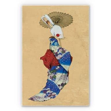 Wandbild Loske - Geisha Kaninchen 01