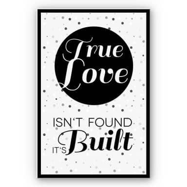 Wandbild True Love