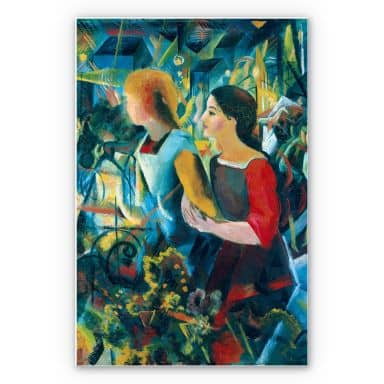 Wandbild Macke - Zwei Mädchen