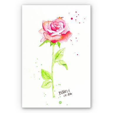 Wandbild Buttafly - Rose