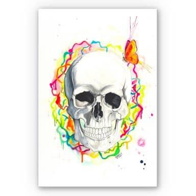 Wandbild Buttafly - Skull