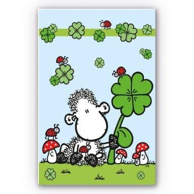 Wandbild sheepworld Ganz viel Glück
