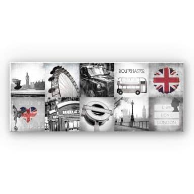 Wandbild Impressions of London - Panorama