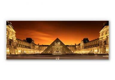 Wandbild Kiciak - Illuminated Louvre