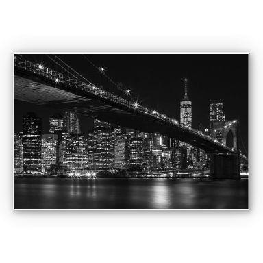 Wandbild New York bei Nacht
