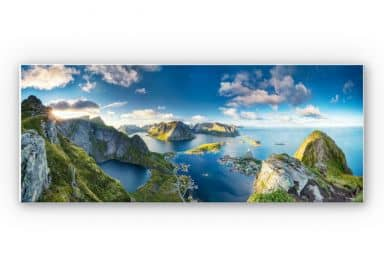 Wandbild Roemmelt - Aussicht vom Reinebringen - Panorama