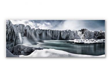 Wandbild Shcherbina - Islands Wasserfälle - Panorama