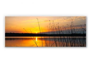 Forex print Sunset on a lake - Panorama