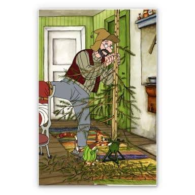 Wandbild Pettersson und Findus - Ein Weihnachtsbaum für Männer