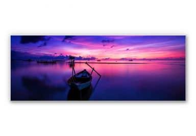 Wandbild Pink Sunrise - Panorama