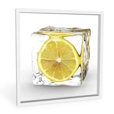 Tableau Forex - Cube de glace avec citron